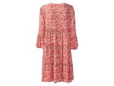 ESMARA® Sukienka damska, 1 sztuka (34, Wzór/czerwony)
