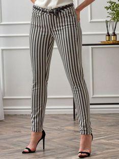 Bawełniane jeansy w paski Expresso 201DONNA