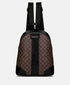 Czarno brązowy plecak damski