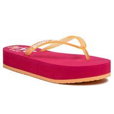 Japonki TOMMY JEANS - Pop Color Mid Beach Sandal EN0EN00853 Blush Red XIF