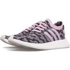 Buty sportowe damskie Adidas dla biegaczy nmd różowe sznurowane zamszowe