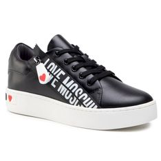 Sneakersy LOVE MOSCHINO - JA15093G1CIA0000  Nero
