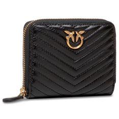 Duży Portfel Damski PINKO - Taylor Wallet Zip Around M V Quilt 20211 PLTT 1P225T Y6XV Black Z99