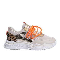 Beżowe sneakersy z motywem zwierzęcym Jana beżowy
