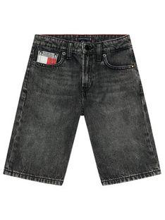 Tommy Hilfiger Szorty jeansowe Modern KB0KB06475 Czarny Regular Fit