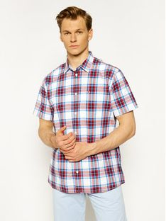 Tommy Jeans Koszula Shortsleeve Check DM0DM07914 Kolorowy Regular Fit