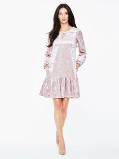 Welurowa różowa sukienka L`AF AMANA