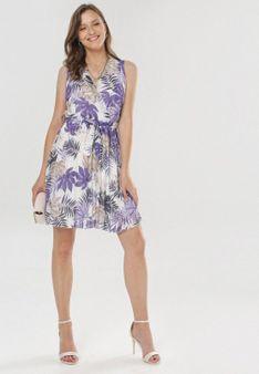 Biało-Fioletowa Sukienka Malilenia