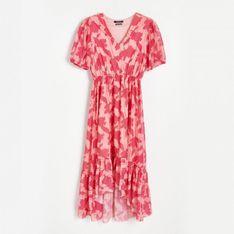 Reserved - Sukienka z lekkiej dzianiny - Wielobarwny