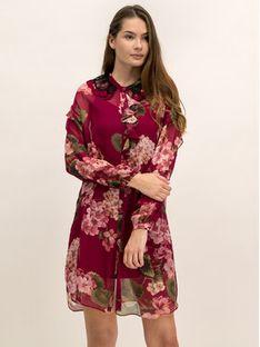 TwinSet Sukienka koszulowa 192TP2728 Bordowy Regular Fit