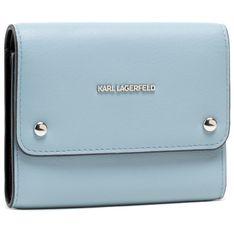 Duży Portfel Damski KARL LAGERFELD - 205W3226  Smoked Blu