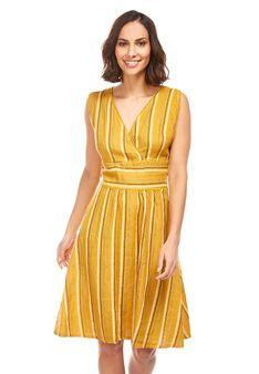 Le Monde du Lin - Sukienka letnia - ochra