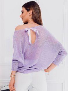 Sweter damski 010ELR - fioletowy