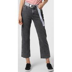Jeansy damskie Calvin Klein bez wzorów szare wiosenne