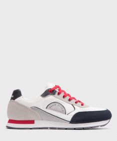 Multikolorowe skórzane sneakersy męskie