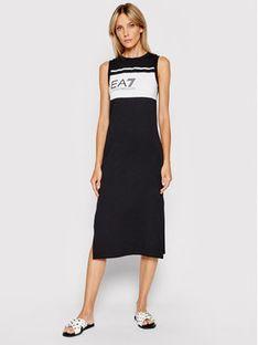EA7 Emporio Armani Sukienka codzienna 3KTA61 TJ31Z 1200 Czarny Regular Fit
