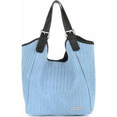Shopper bag Vittoria Gotti niebieski