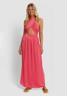 NA-KD - Długa sukienka - różowy