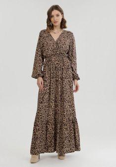 Brązowa Sukienka Xyllyss