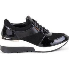 Buty sportowe damskie Akardo skórzane na wiosnę na płaskiej podeszwie