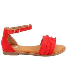 Sandałki damskie czerwone S060195 Red