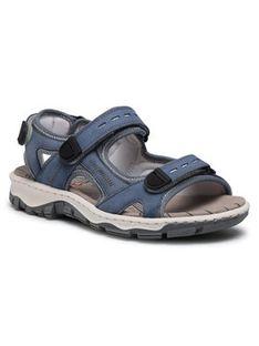 Rieker Sandały 68874-14 Niebieski