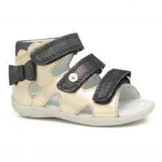 Sandały Bartek 11707-026, Dla Dziewcząt, Czarno-Złoty