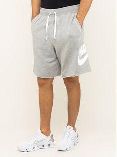 Nike Szorty materiałowe Nsw French Terry Alumni Logo AR2375 Szary Loose Fit
