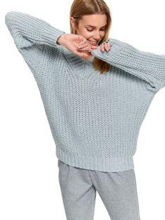 Sweter długi rękaw damski akrylowy  luźny