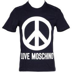 T-shirt męski Love Moschino wiosenny z krótkimi rękawami