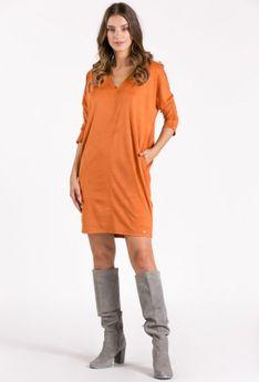 Oversizowa sukienka z kieszeniami