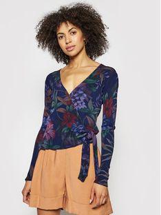 Desigual Sweter Sidney 21SWJF14 Kolorowy Slim Fit