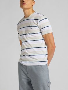 "Lee ""SS Stripe Tee"" Dawn Blue"