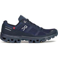 Buty sportowe damskie On Running granatowe płaskie sznurowane