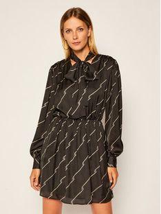 MSGM Sukienka codzienna 2941MDA39 207694 Czarny Regular Fit