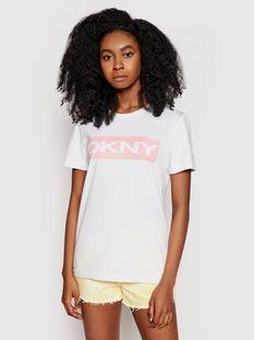 DKNY T-Shirt P0DARCNA Biały Regular Fit