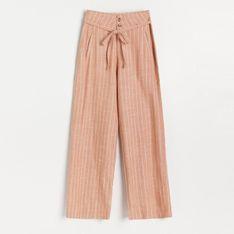 Reserved - Spodnie wide leg - Pomarańczowy