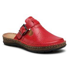 Klapki WALDI - 0814 Czerwony