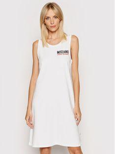 MOSCHINO Underwear & Swim Sukienka codzienna 4003 9021 Biały Regular Fit