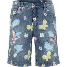 Niebieskie jeansy damskie Bonprix