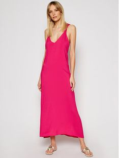Silvian Heach Sukienka letnia Albaio PGP21579VE Różowy Regular Fit