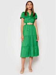 Rinascimento Sukienka codzienna CFC0017900002 Zielony Regular Fit