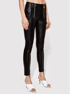 Rage Age Spodnie skórzane Victoria 1 Czarny Slim Fit