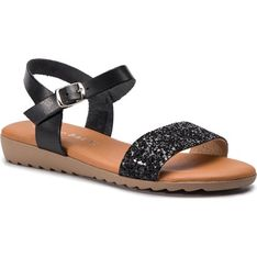 Sandały damskie Sergio Bardi skórzane na płaskiej podeszwie bez obcasa