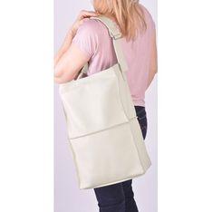 Shopper bag Designs Fashion mieszcząca a6 beżowa
