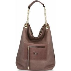 Shopper bag Conci matowa brązowa