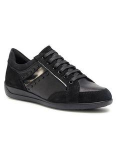 Geox Sneakersy D Myria H D0468H 02285 C9999 Czarny