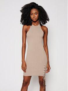 Guess Sukienka letnia W1GK90 Z2U00 Beżowy Slim Fit