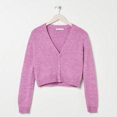 Sinsay - Rozpinany sweter - Różowy