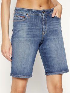 Tommy Jeans Szorty jeansowe Mid Rise Denim Bermuda DW0DW08214 Granatowy Regular Fit